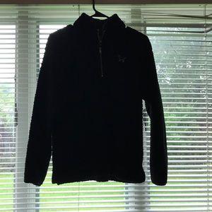 victoria's secret fur jacket with quarter zip